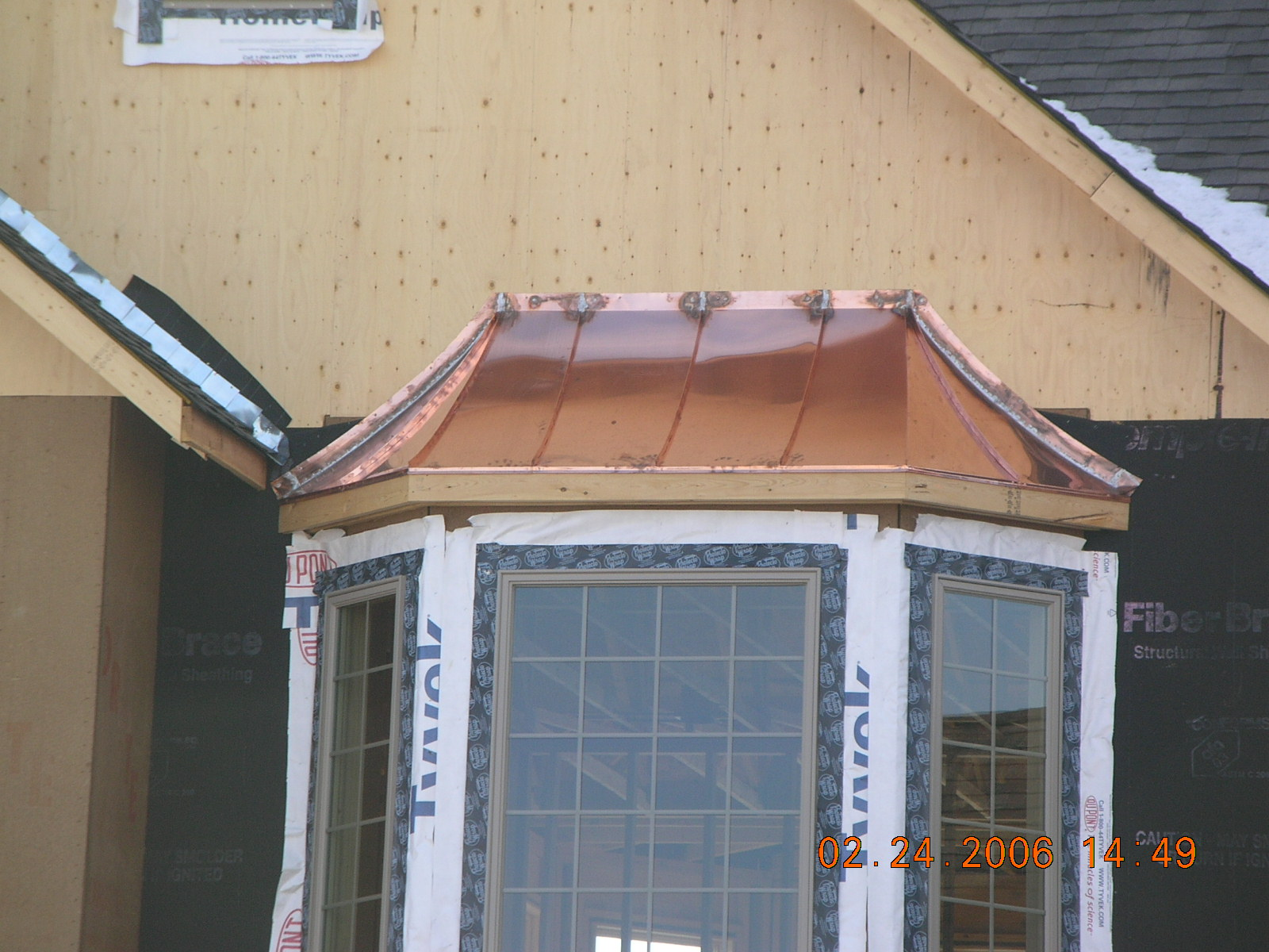 & Copper Window Bay Roofs Installed memphite.com