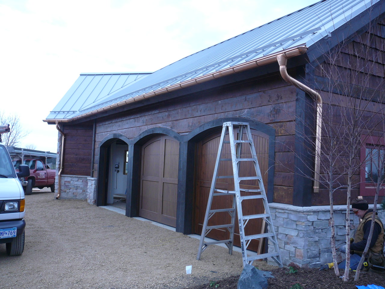 European Copper Half Round Gutter Installation Mn
