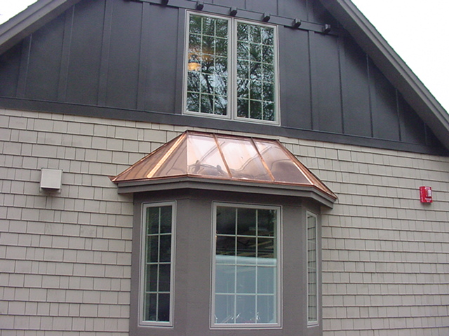 Copper Window Bay Roofs Installed